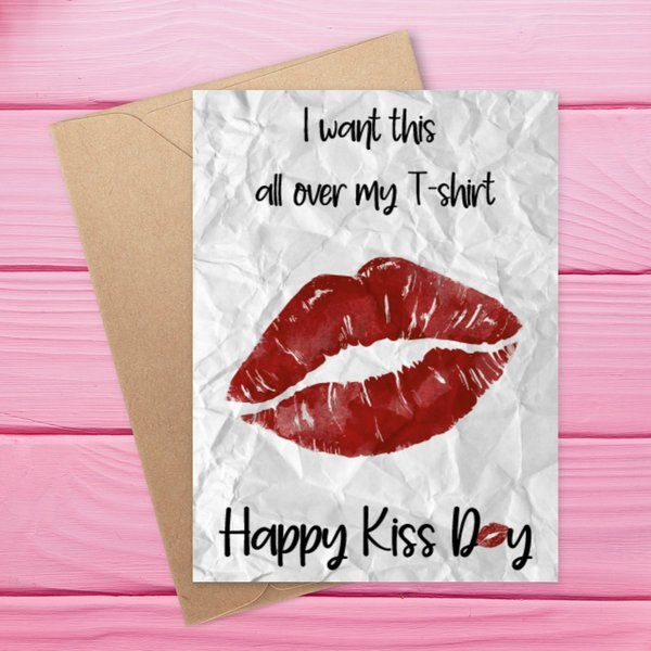 Privy Express Quirky Kiss Day Greeting Card Kiss Day Gift For Boyfriend