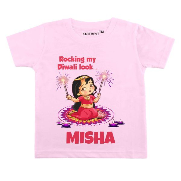 Knitroot Rocking Diwali Look Baby Girl Wear T-Shirts  Gifts For 9 Year Old Girls