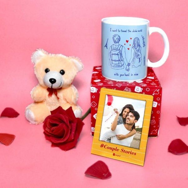 Indigifts Romantic Combo Gift For Boyfriend, Husband First Gift For Boyfriend