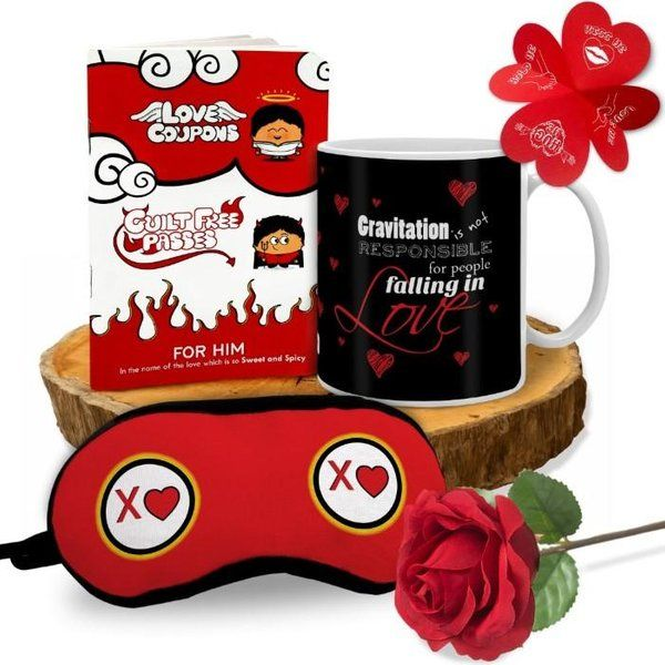 Indigifts Romantic Combo With Quirky Love Coupon Book For Him Naughty Gifts For Him