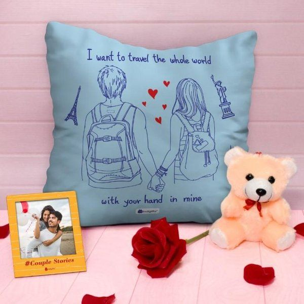 Indigifts Romantic Cushion Cover Combo For Valentine's Day  Romantic Valentines Day Gifts For Him