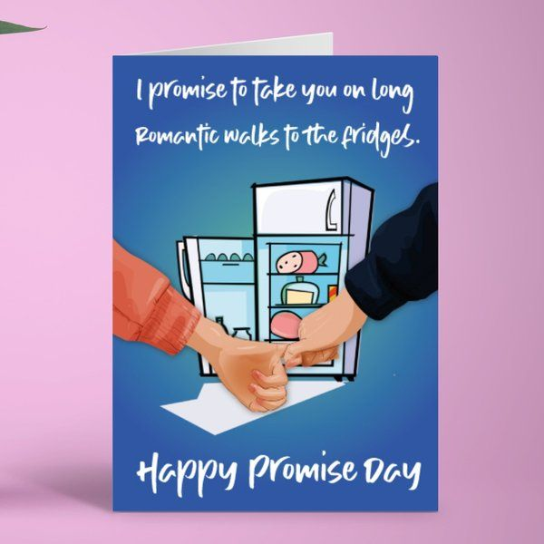 Privy Express Romantic Walks Quirky Promise Day Greeting Card Best Gift For Boyfriend Long Distance