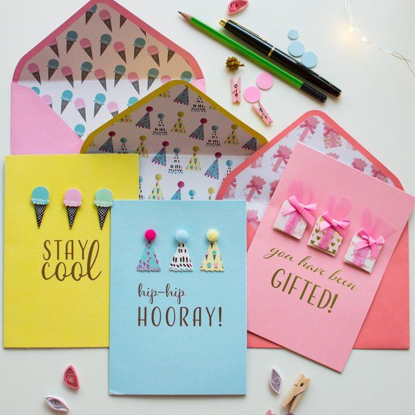 Dottedi Set of 3 Cards - Graphic Birthday Gift Ideas For Female Best Friend