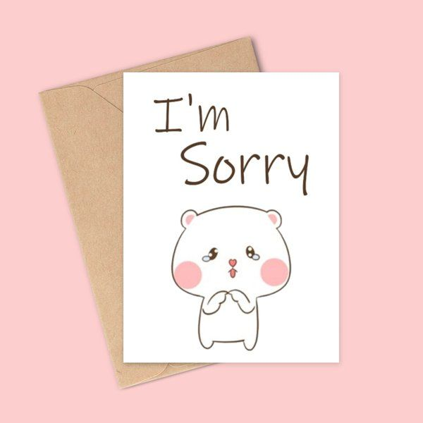 Sorry Gifts for GF Sorry Greeting Card
