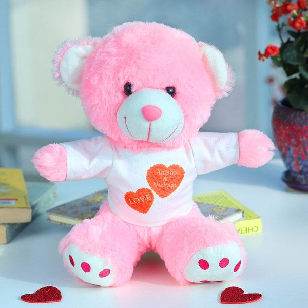 FlowerAura Tailormade Teddy Bear Personalized Valentines Gifts For Him