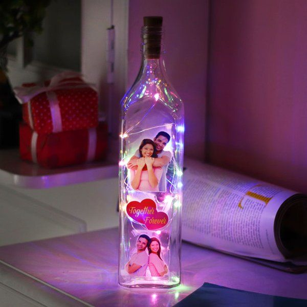 FlowerAura Togetherness LED Bottle Personalized Valentines Gifts