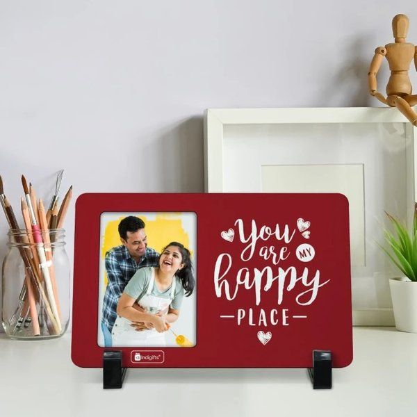 Love Gifts for Boyfriend Printed Red Table Photo Frame