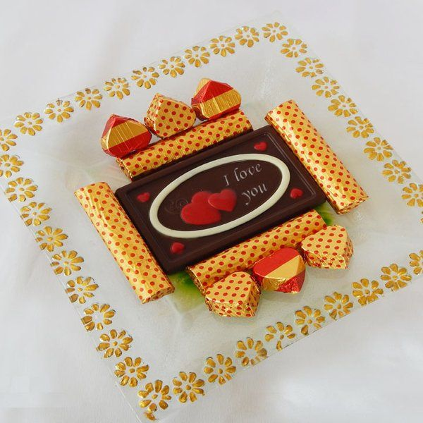 Jus'Trufs Chocolatiers Valentines Day Chocolate Platter Romantic Valentines Day Gift
