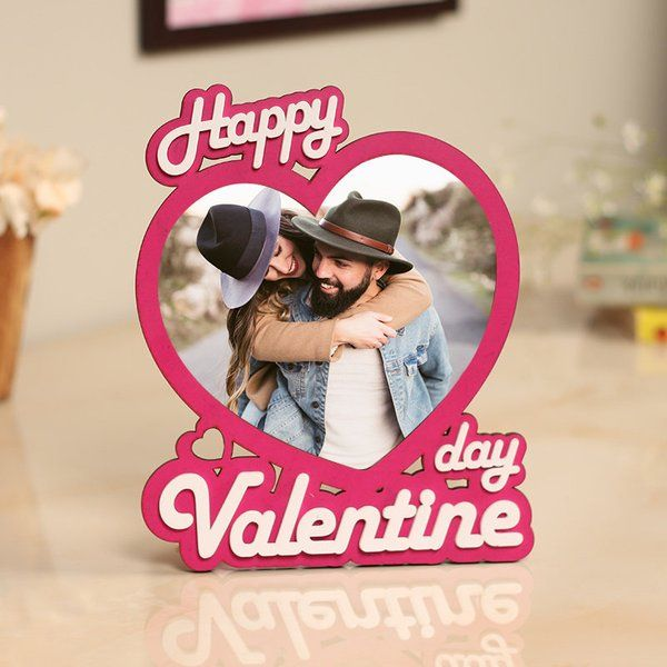 FlowerAura Valentines Photo Frame Simple Birthday Gifts For  husband