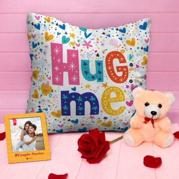 Indigifts Valentines Romantic Gift Hamper For Couples Hug Day Gift For Boyfriend