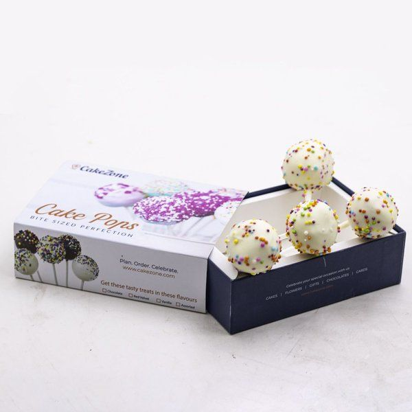 CakeZone Vanilla Cake Pops - Pack of 4  gifts Under 200