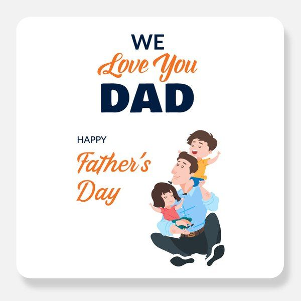 We Love You Dad Greeting Card Gift Items Under 10 Rupees
