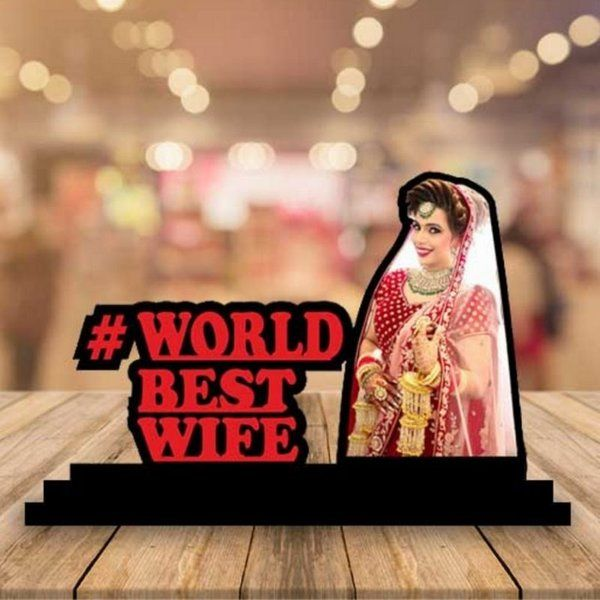 Waah Craft Wife Wooden Photo Standby With Message Romantic Valentines Day Gift