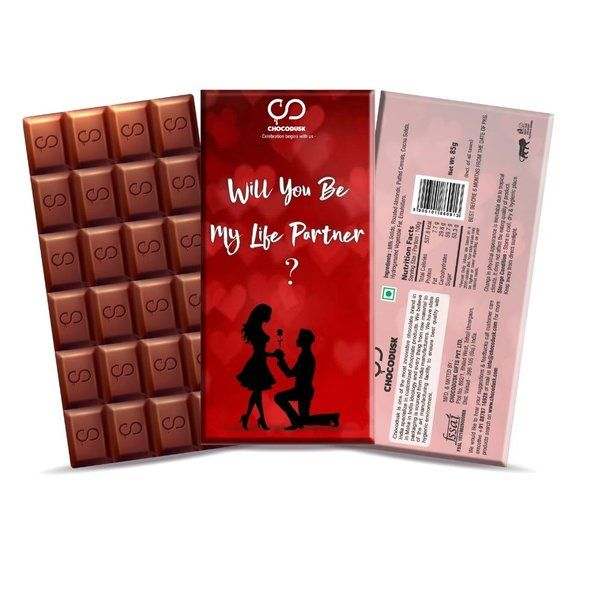 Chocodusk Will You Be My Life Partner Red Chocolate Bar Gifts For Indian Girlfriend