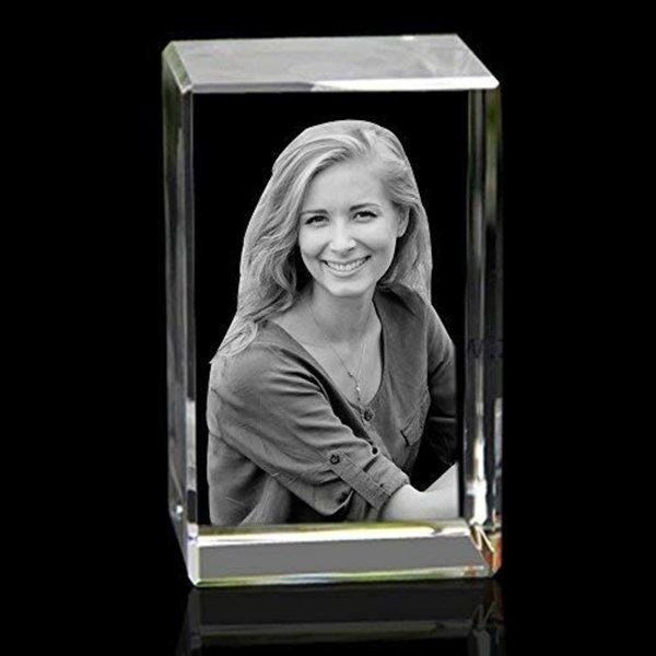 Wonderful Wife Rectangle Personalized 3D Crystal Photo Gifts