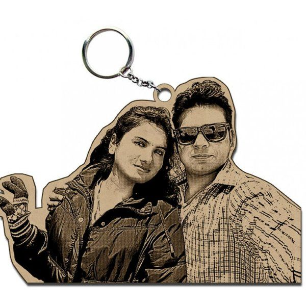 Incredible Gifts Wooden Personalized Photo keyring Special Gift For Boyfriend On His Birthday