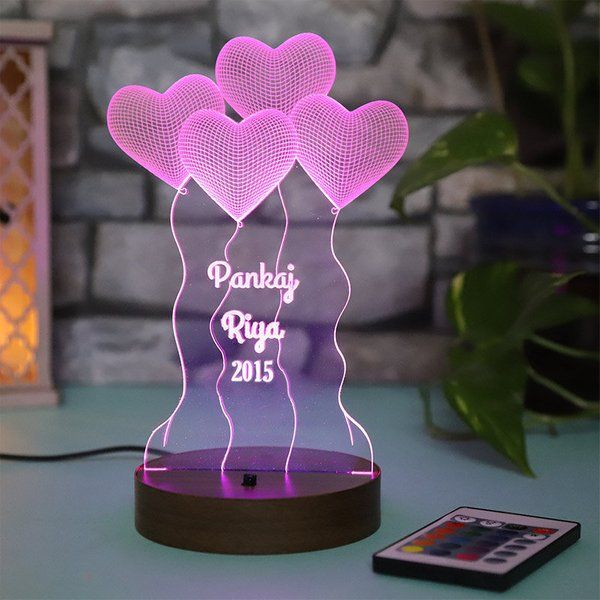 FlowerAura You And I Customised Lamp  Unique Valentines Day Gift