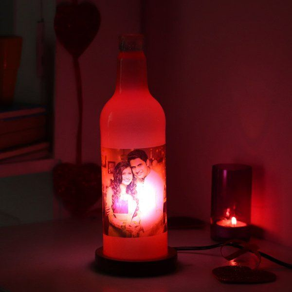 Forever Bottle Personalized Lamp with Photos