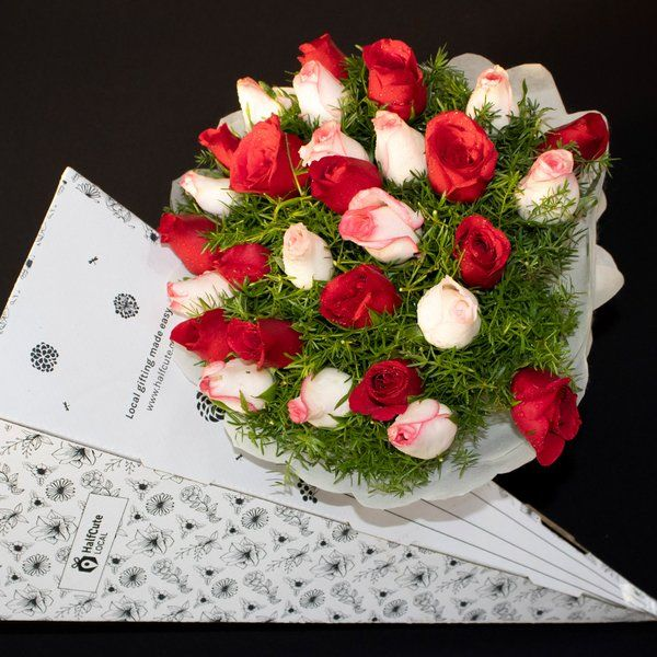HalfCute Local 15 Red Roses & 15 Pink Rose  Retirement Gifts For Women