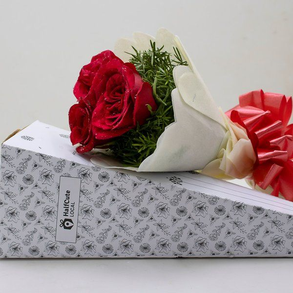 HalfCute Local 3 Red Rose Paper Pack Graduation Gifts For Girls