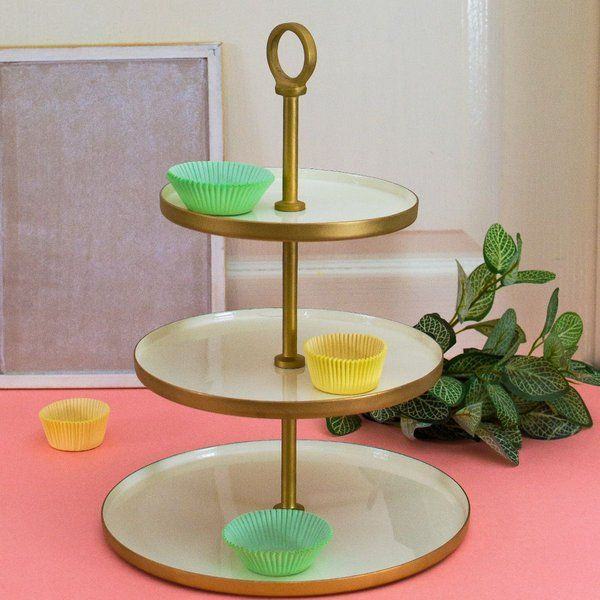 Dottedi 3 Tier Classic White Cupcake Stand 25th Anniversary Gift Ideas For Friends