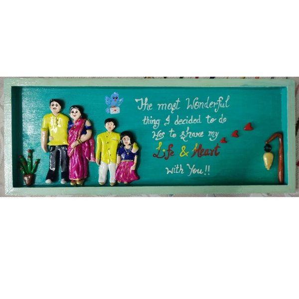 Hitchki 3D Customized Clay Art Family Frame Gifts For Brothers From Sisters
