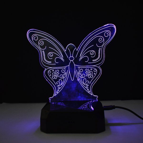 zestaindia 3D Illusion LED Butterfly Lamp Unique Wedding Gifts For Best Friend