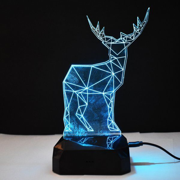 zestaindia 3W 3D Illusion Deer colour Changing LED Lamp Personalised Rakhi Gifts For Brother