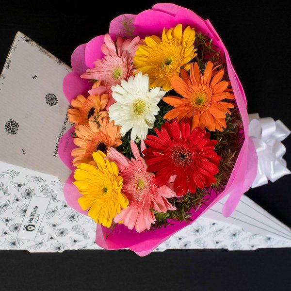 HalfCute Local 9 Gerbera Small Gifts For Friends