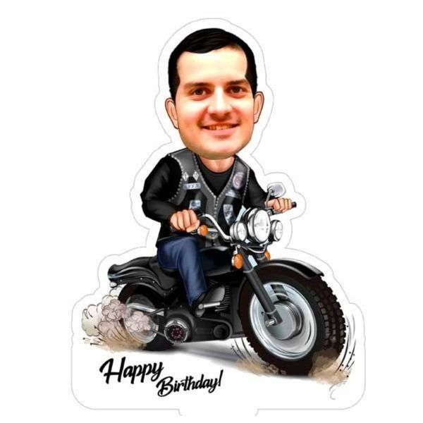 Privy Express Adventure Bike Rider Special Birthday Caricature  Special Gift For Brother