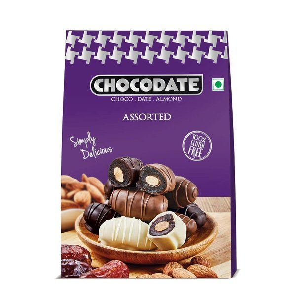 Chocodate Arabian Date And Roasted Almond Assorted Chocolate Box 100g 18th Birthday Gift Ideas For Sister