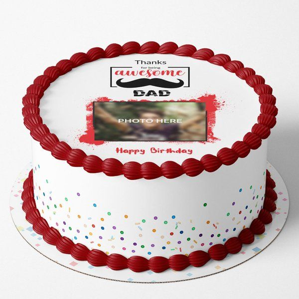 CakeZone Awesome Dad Photo Cake Birthday Cake For Father