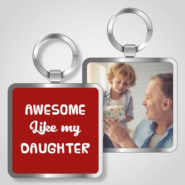 Awesome Like My Daughter Keychain a Matching Father Daughter Gifts