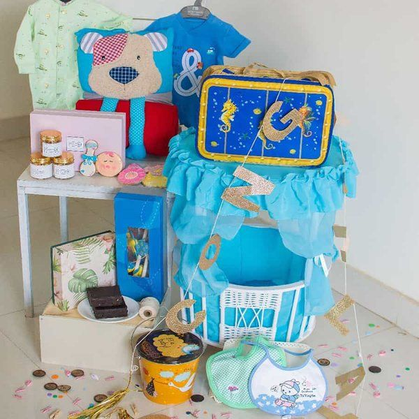 Dottedi Baby Boy Hamper Mom To Be Hamper