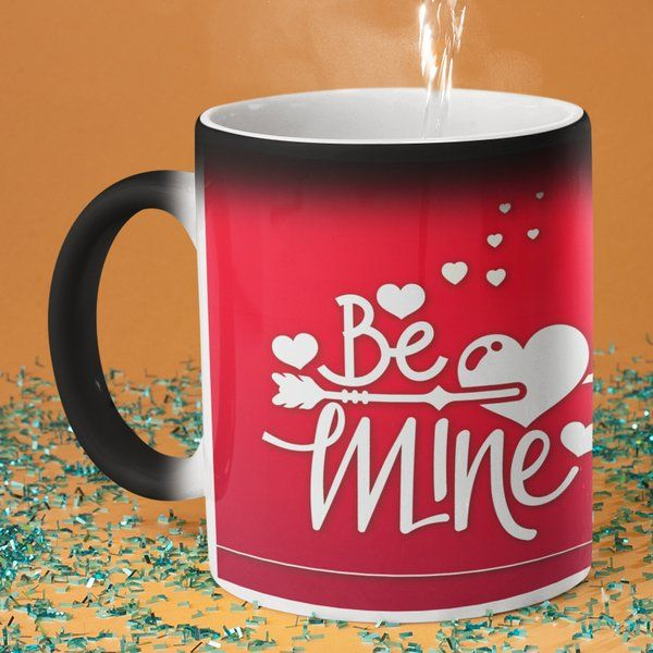 Privy Express Be Mine Romantic Personalised Photo Magic Coffee Mug Useful Birthday Gifts For Sister