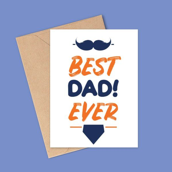 Privy Express Best Dad Ever Message Card Birthday Card For Father