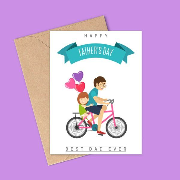 Privy Express Best Dad Ever Greeting Card For Fathers Day