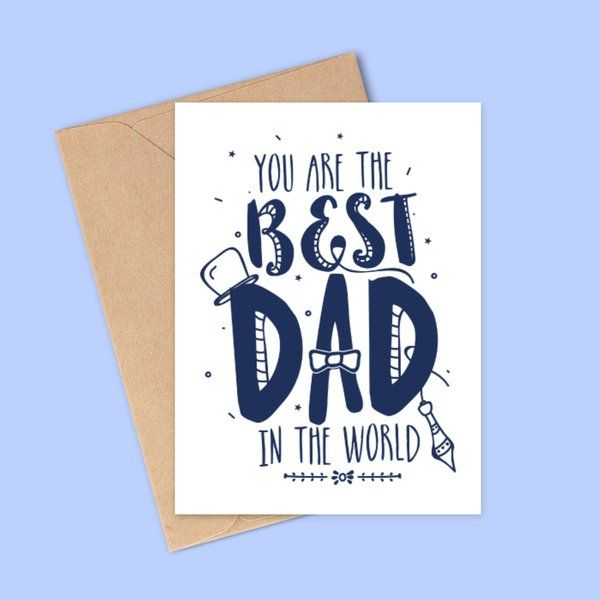 Privy Express Best Dad In The World Greeting Card For Fathers Day