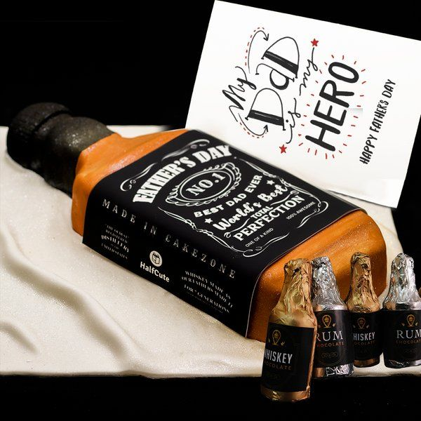 CakeZone Best Dad Jack Daniels Alcohol Theme Hamper Last Minute Birthday Gift For Dad