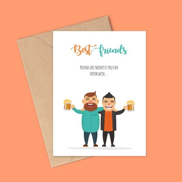Privy Express Best Friends Beer Greeting Card Cheap Gifts For Friends