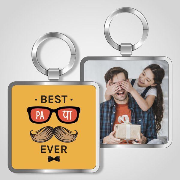 Privy Express Best PAPA Ever Keychain  Dad Keychains