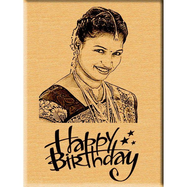 Incredible Gifts Birthday Gift Engraved Wooden Photo Plaque Surprise Gift For Sister