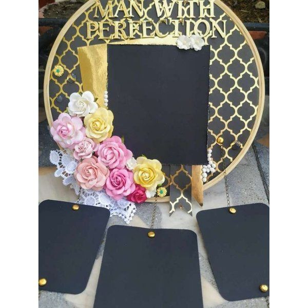 Hitchki Black and Gold Floral Memory Catcher Special Gift For Brother
