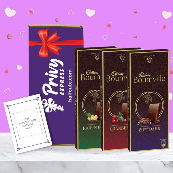 Privy Express Bournville Trilogy Cadbury Chocolates Gift Box With Message Card Best Surprise Gift For Friend