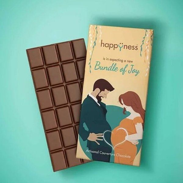 Happyness Chocolates Bundle of Joy Chocolate Bar Gifts For Pregnant Wife