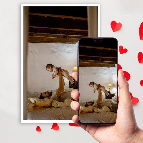 Homingos Caring Father Scan to Play Personalized Video Card For Printing Memories Dad To Be Gifts