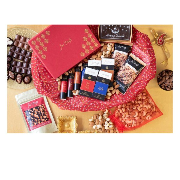 Jus'Trufs Chocolatiers Chocolate Delights For All Diwali Hamper Expensive Gifts For Sister