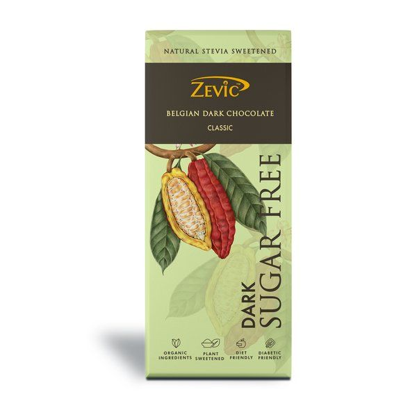 Zevic Chocolate with Organic Jaggery 40 gm Holi Chocolates