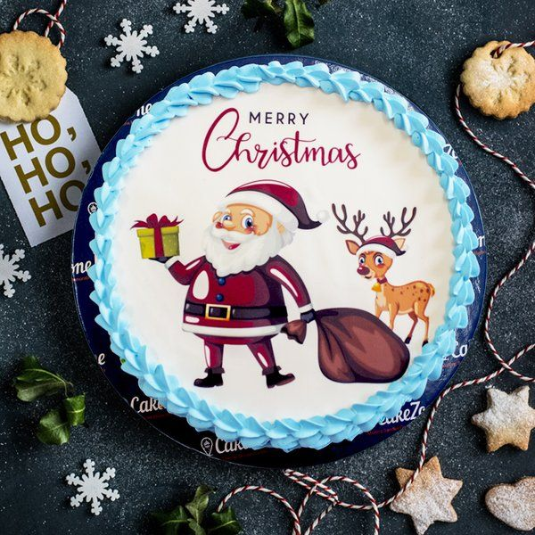 CakeZone Christmas Santa Photo Cake Christmas Gifts For Friends