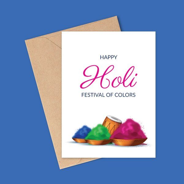 Colorful Holi Greeting Cards